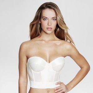 New corset sweetheart corset ivory bra